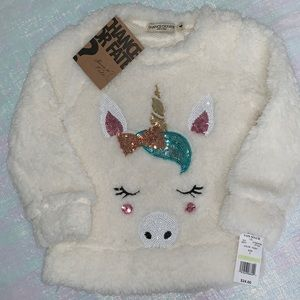 Sparkly Unicorn Sweater ** 3 for $24 **
